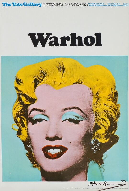 Andy Warhol, 'Marilyn (Exhibition poster for Warhol: The Tate Gallery)', 1971, Print, Offset Lithograph In Colours, On Smooth Wove Paper, Roseberys