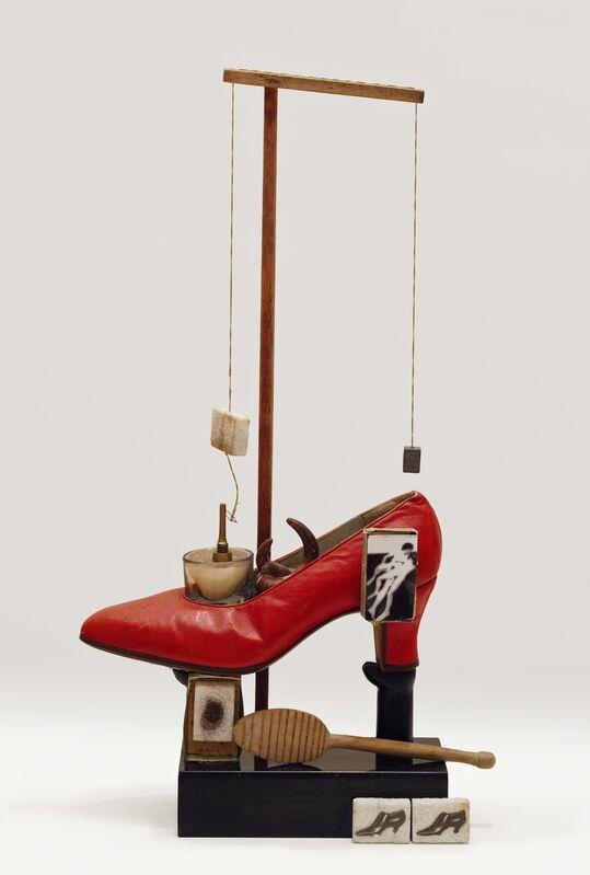 Salvador Dalí, 'Objet Surréaliste à fonctionnement symbolique—le soulier de Gala (Surrealist object that functions symbolically—Gala's Shoe)', 1932/1975, Sculpture, Shoe, marble, photographs, clay, and mixed media, San Francisco Museum of Modern Art (SFMOMA)