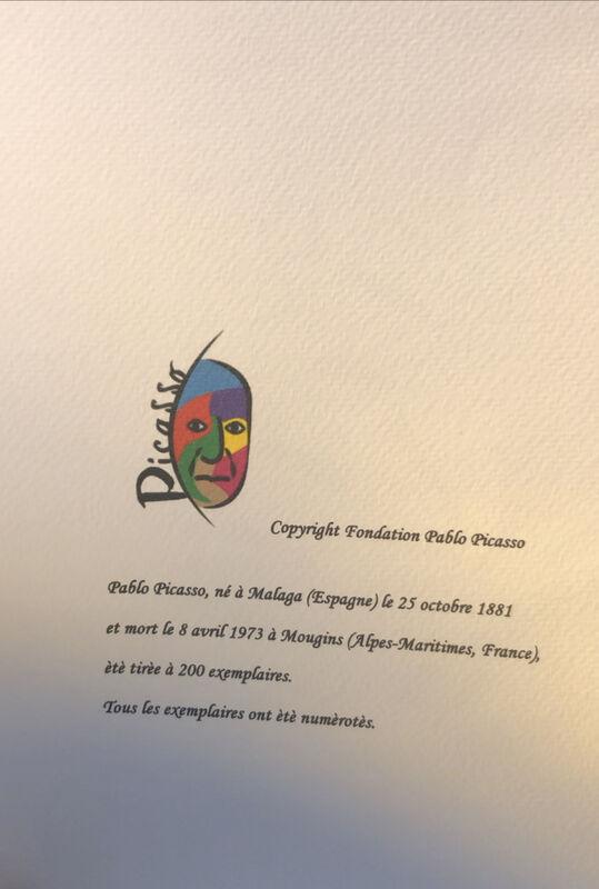 Pablo Picasso, 'Sans titre', 1970-1980, Print, Paper, Krystel Ann Art