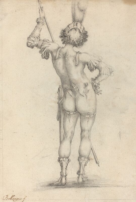 after Jacques Bellange, 'Standing Figure [recto]', Drawing, Collage or other Work on Paper, Black chalk on laid paper, National Gallery of Art, Washington, D.C.
