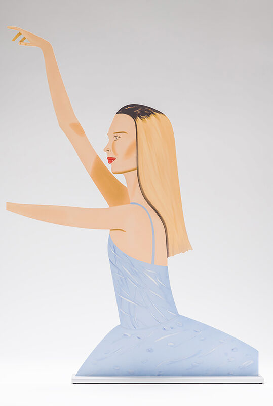 Alex Katz, 'Dancer 2', 2020, Sculpture, Cutout from shaped powder-coated aluminum, printed the same on each side with UV cured archival inks, clear coated and mounted to a 3/8 inch aluminum base, William Shearburn Gallery