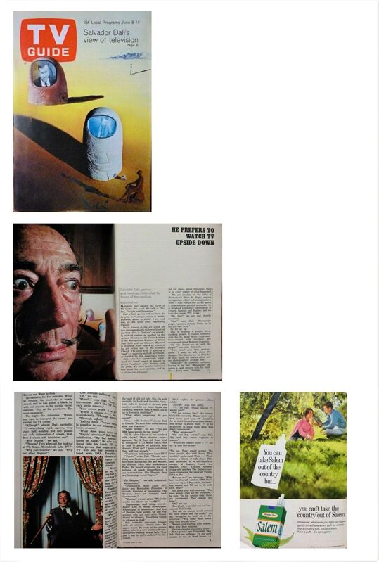 """Salvador Dalí, '""""Salvador Dali's View on Television"""", 1968, TV GUIDE, Article: """"He Prefers to Watch TV Upside Down"""", Complete with all Listings, with NO mailing label. RARE.', 1968, Ephemera or Merchandise, Print, VINCE fine arts/ephemera"""