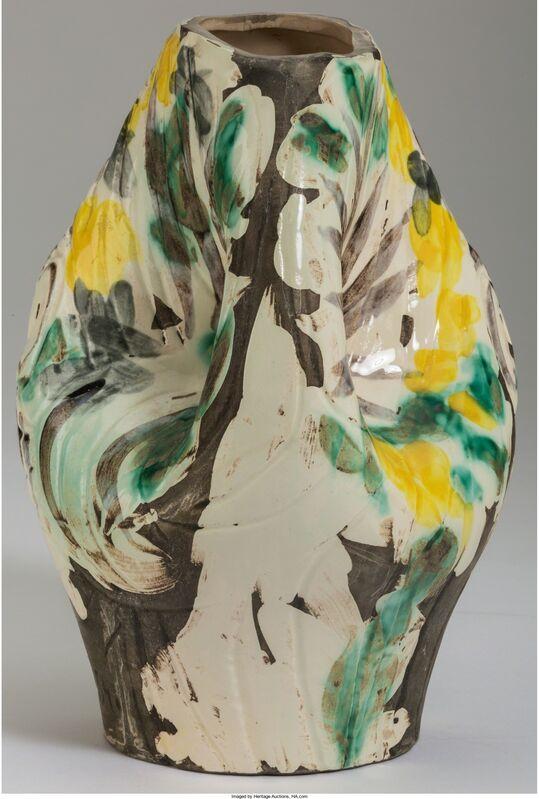 Pablo Picasso, 'Tête de femme couronnée de fleurs', 1954, Design/Decorative Art, Terre de faïence pitcher, partially glazed, Heritage Auctions