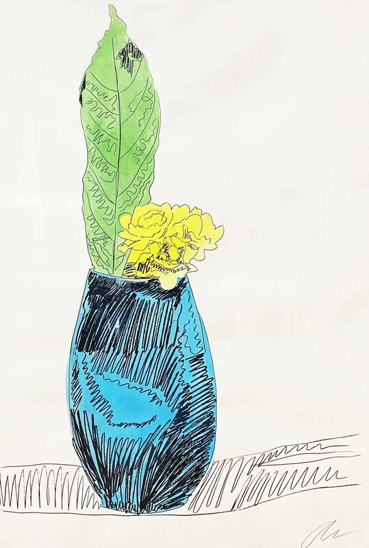 Andy Warhol, 'Flowers (Hand-Colored): one plate', 1974, Print, Screenprint with hand-coloring in watercolor on J. Green paper, DANE FINE ART