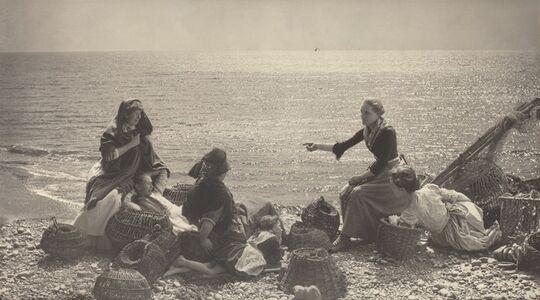 Henry Peach Robinson, 'Gossip on the Beach', ca. 1885