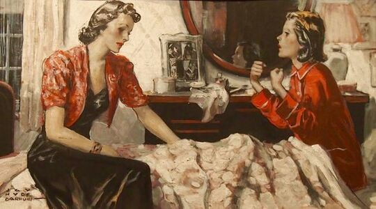 H. Y. Barnwill, 'Mother and Daughter', 20th Century