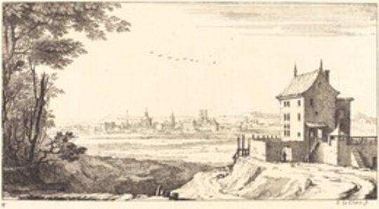 Sébastien Le Clerc I, 'Landscape with City in Distance', 1673