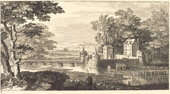 Sébastien Le Clerc I, 'Landscape with Chateau', 1673