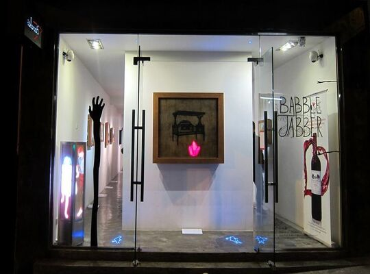 """Babble Jabber"" 疯言疯语, installation view"
