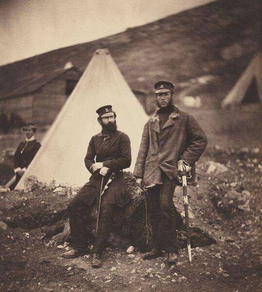 Roger Fenton, 'Captain Graham and Captain MacLeod, 42nd Regiment', 1855