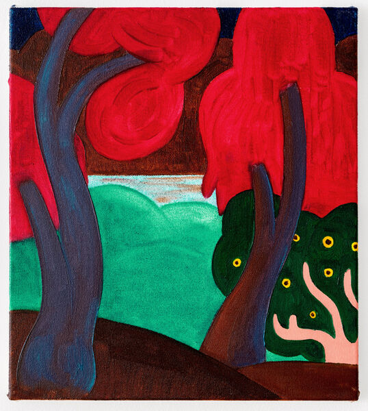 André Ethier, 'Untitled (Red Trees)', 2017