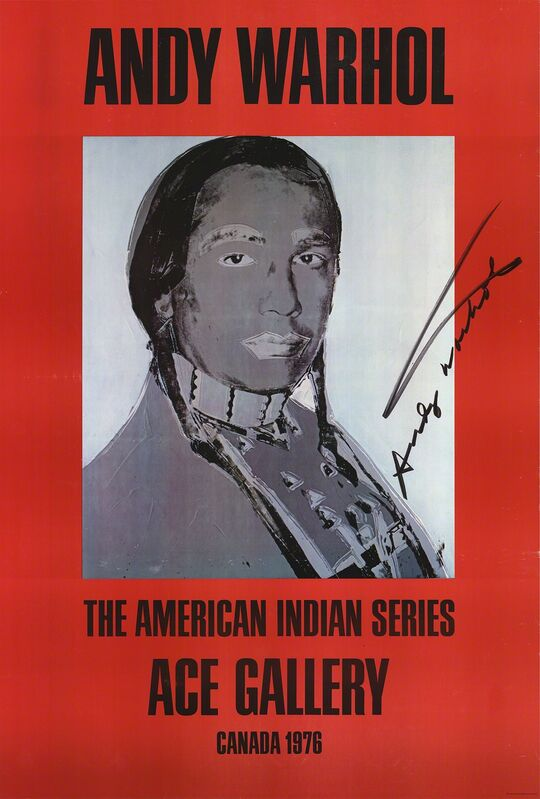 Andy Warhol, 'American Indian (Red)', 1977, Ephemera or Merchandise, Offset Lithograph, ArtWise