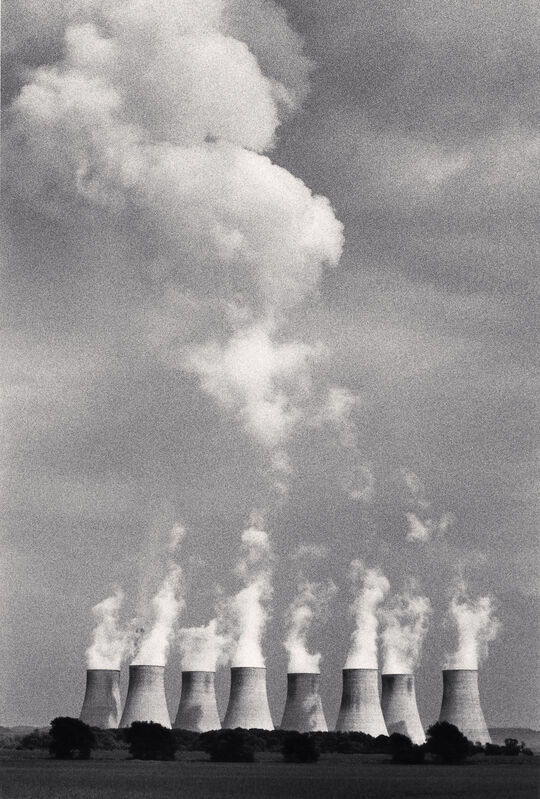 Michael Kenna, 'Ratcliffe Power Station, Study 21, Nottinghamshire, England, 1984', 1984, Photography, Sepia-toned silver gelatin print mounted to archival substrate, Bau-Xi Gallery