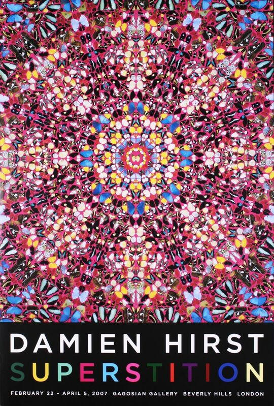 Damien Hirst, 'Superstition Signed Poster', 2007, Print, Print on paper, The Drang Gallery