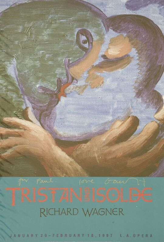 David Hockney, 'Tristan Und Isolde - Robert Wagner', 1997, Print, Offset lithographic poster printed in colours, Sworders