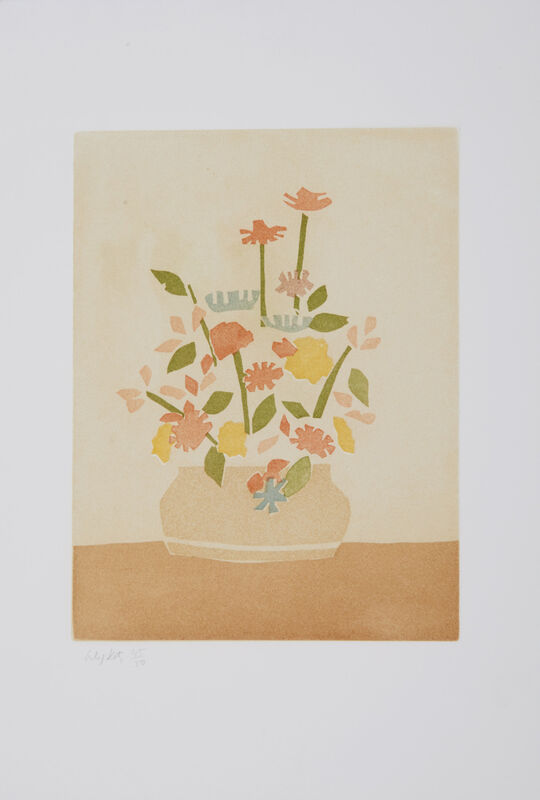Alex Katz, 'Wildflower in a Vase (Small Cuts)', 2008, Print, Aquatint in colors on Cartiera Magnani Corona paper, Artsy x Capsule Auctions