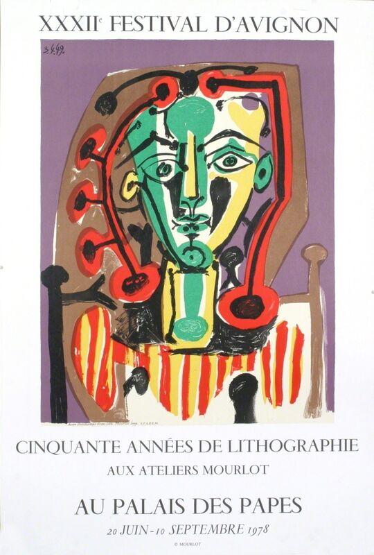 Pablo Picasso, 'Palais des Papes, Tete de Femme', 1978, Ephemera or Merchandise, Stone Lithograph, ArtWise
