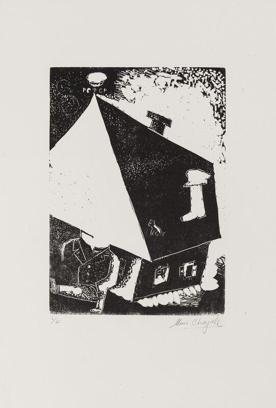 Marc Chagall, 'Maison (Kornfeld 35. IIIb.)', Print, Wood-engraving, Forum Auctions