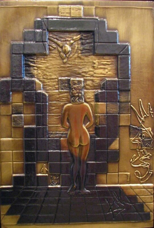 Salvador Dalí, 'Lincoln In Dali Vision ', 1975, Mixed Media, Bas Relief in Bronze, Gregg Shienbaum Fine Art