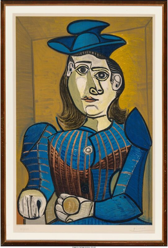 Pablo Picasso, 'Femme assise (Dora Maar)', 1955, Print, Lithograph in colors on wove paper, Heritage Auctions