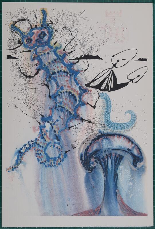 "Salvador Dalí, 'Advice from a Caterpillar', 1969, Print, Woodcut & heliogravure on ""de Mandeure paper"", NCAG"