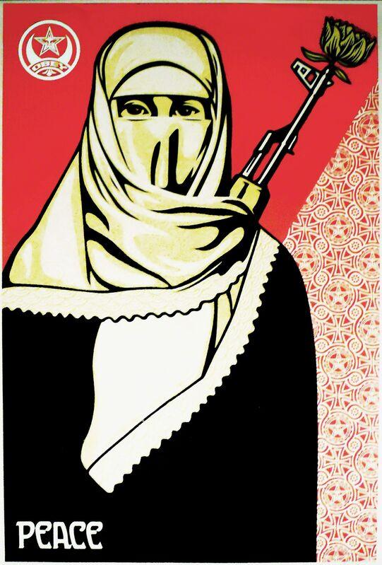 Shepard Fairey, 'Revolutionary Muslim Woman ', 2005, Print, Offset Lithograph, EHC Fine Art
