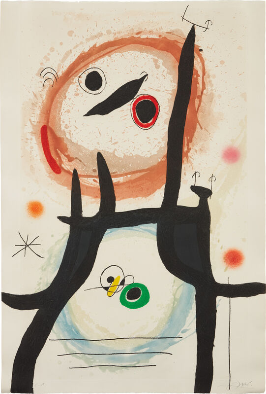 Joan Miró, 'La Femme Angora (The Angora Woman)', 1969, Print, Etching and aquatint in colors with carborundum, on Arches paper, the full sheet., Phillips