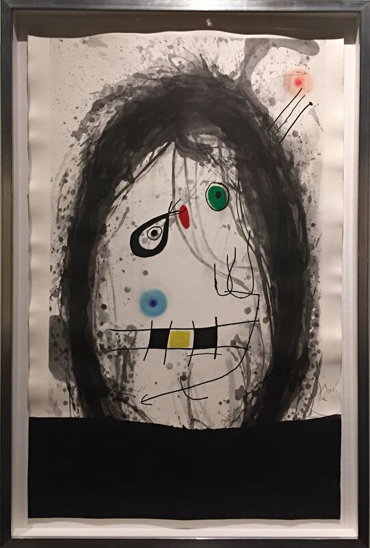 Joan Miró, 'L'Exile Noir ', 1969, Print, Etching and aquatint with carborundum in colours on Arches wove paper, Off The Wall Gallery