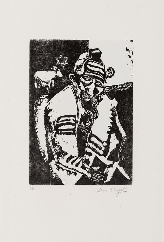 Marc Chagall, 'Juif Priant (Kornfeld 31. IIIb.)', Print, Wood-engraving, Forum Auctions