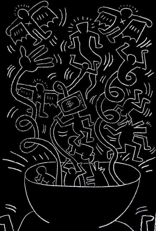 Keith Haring, 'Future Primeval, 1990 Queens Museum Exhibition Poster', 1990, Print, Offset lithograph on wove paper, Art Commerce