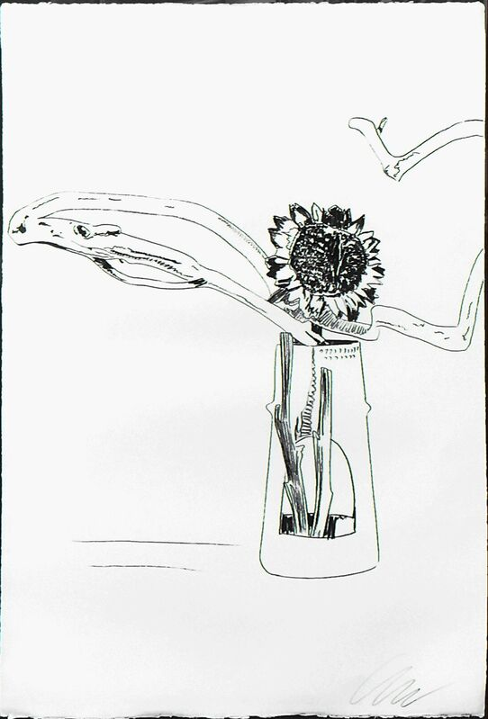 Andy Warhol, 'FLOWERS FS II.102 (BLACK AND WHITE)', 1974, Print, SCREENPRINT ON ARCHES PAPER AND J. GREEN PAPER, Gallery Art