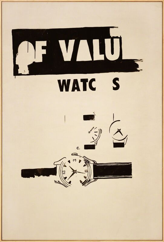 Andy Warhol, 'Watches', 1961, Painting, India ink on cotton duck, Gagosian
