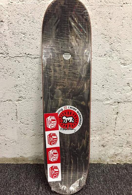 Keith Haring, ' Keith Boom Box Skateboard Deck', 2012, Ephemera or Merchandise, Silkscreen on maple wood skate deck, Lot 180