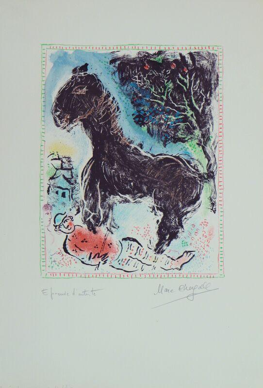 Marc Chagall, 'Le Petit Cheva', 1972, Print, Lithography, Art Works Paris Seoul Gallery