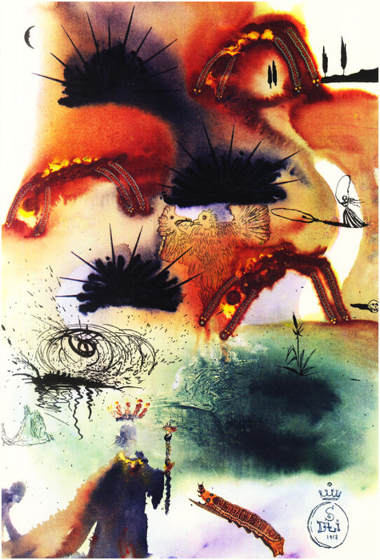 Salvador Dalí, 'The Lobster Quadrille', 1969, Drawing, Collage or other Work on Paper, Heliogravure, Dali Paris