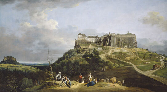 Bernardo Bellotto, 'The Fortress of Königstein', 1756-1758