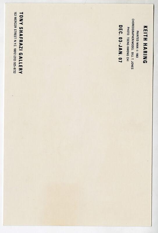 Keith Haring, 'Keith Haring Into 84 (Keith Haring Tony Shafrazi announcement)', 1983, Ephemera or Merchandise, Offset printed announcement card, Lot 180