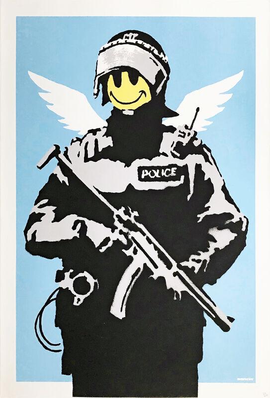 Banksy, 'FLYING COPPER', 2004, Print, SCREEN PRINT, Gallery Art