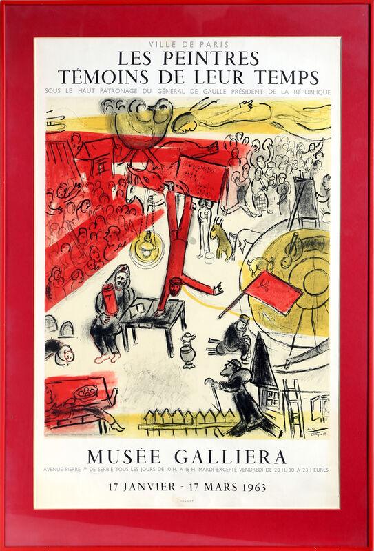 Marc Chagall, 'Musee Galleria: Le Peintures Temoins de leur Temps', 1963, Ephemera or Merchandise, Lithograph Poster, RoGallery