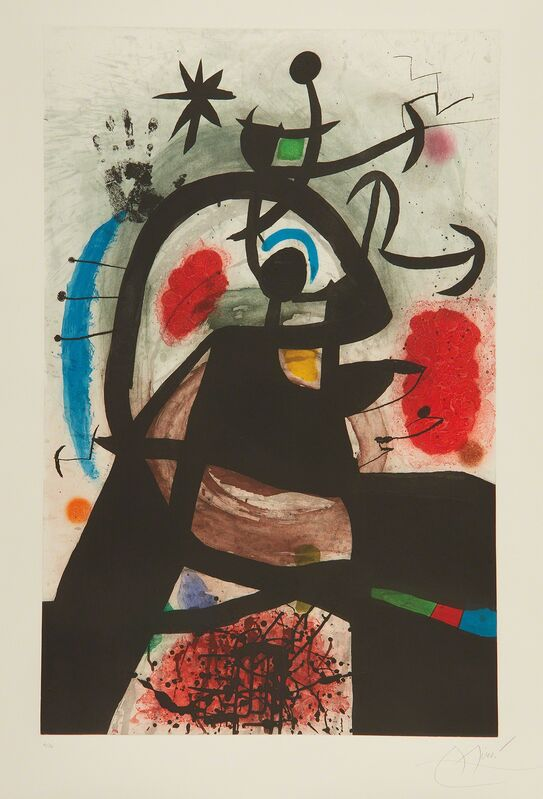 Joan Miró, 'Le Permissionaire (Soldier on Leave)', 1974, Print, Etching and aquatint in colors, on Arches paper, with full margins., Phillips