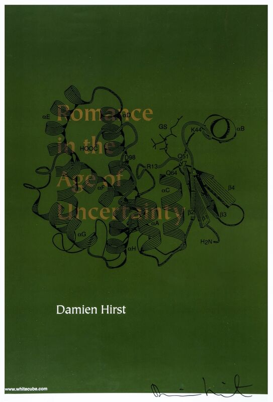 Damien Hirst, 'Romance in the Age of Uncertainty (Signed)', 2003, Print, Lithographic print on poster paper, The Drang Gallery