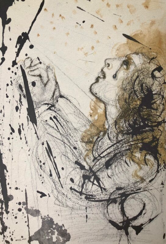 Salvador Dalí, 'Away With Him, Away With Him, Impale Him, 'Tolle, Tolle, Crucifige Eum', Biblia Sacra', 1967, Print, Original Lithograph, Inviere Gallery