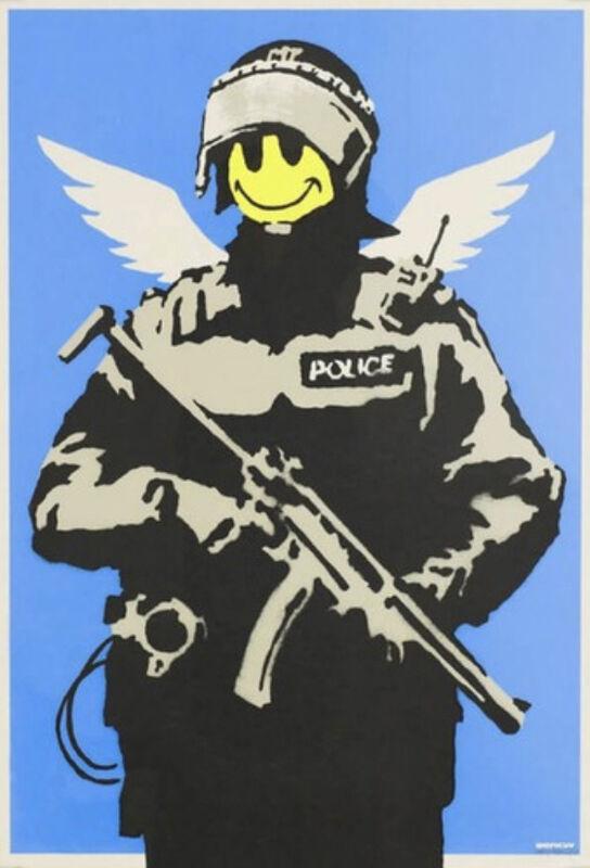 Banksy, 'Flying Copper', 2004, Print, Screen Print, Leonards Art