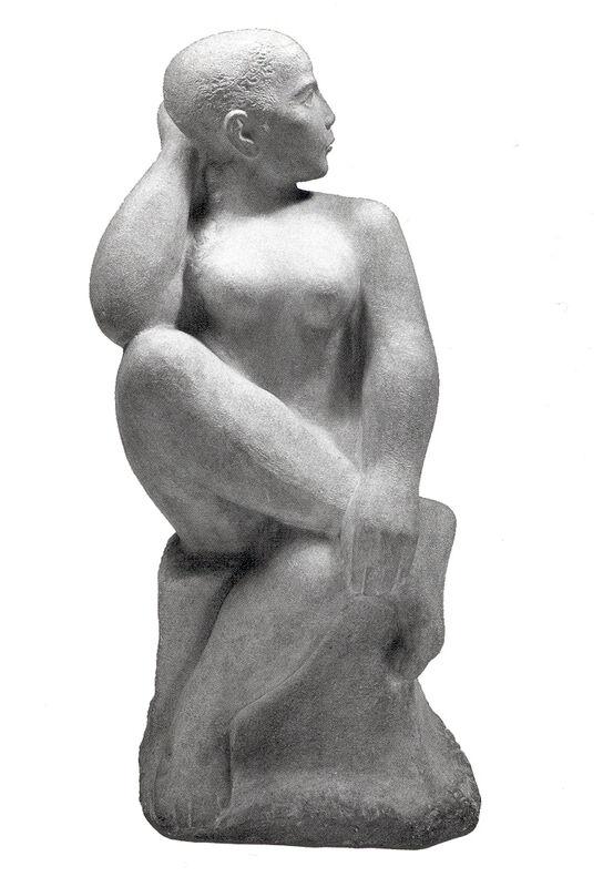 William Zorach, 'Seated Dancer', 1950, Sculpture, Marble, Bernard Goldberg Fine Art