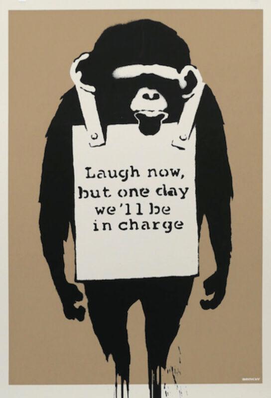 Banksy, 'Laugh now', 2003, Print, Screen Print on paper, Vroom & Varossieau