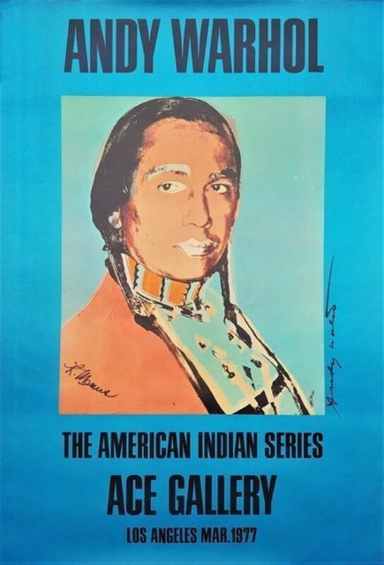 Andy Warhol, 'Ace Gallery, The American Indian Series', 1977, Posters, Exhibition poster, offset lithograph in colours on paper, Tate Ward Auctions