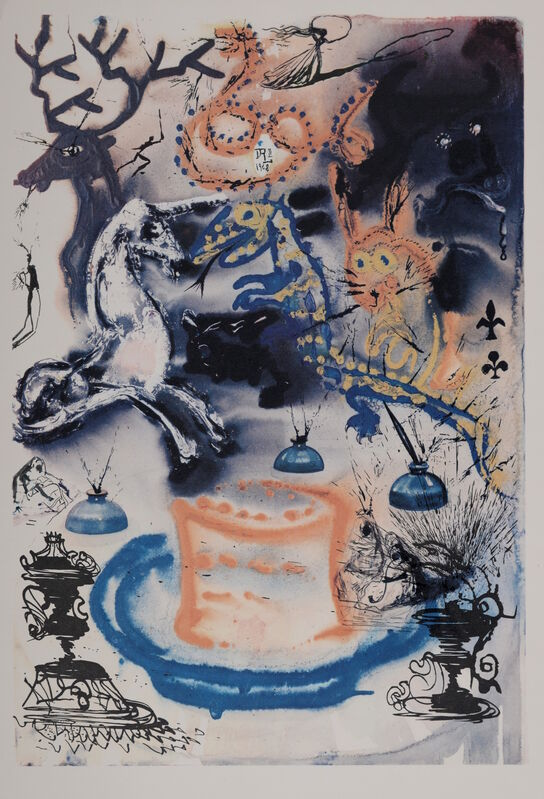 "Salvador Dalí, 'Who Stole the Tart', 1969, Print, Woodcut & heliogravure on ""de Mandeure paper"", NCAG"