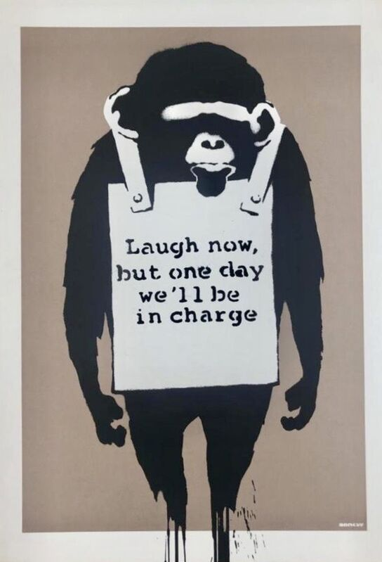Banksy, 'Laugh Now', 2003, Print, Screenprint in colours on wove paper., HOFA Gallery (House of Fine Art)