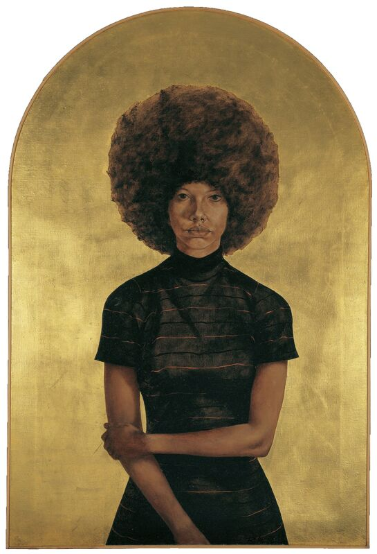 Barkley L. Hendricks, 'Lawdy Mama', 1969, Painting, Oil and gold leaf on canvas, Brooklyn Museum