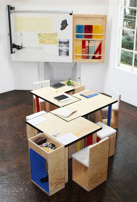 Torolab, 'La mesa sin fin (Goeritz-Kiesler)', 2014, Sculpture, Modular table made from the discarded crate of the work Ciudad sin fin, 1960 by Mathias Goeritz, OMR